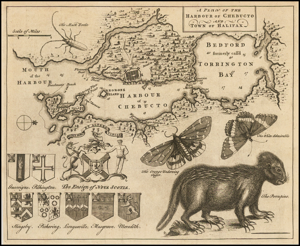19-Canada Map By Gentleman's Magazine / Thomas Jefferys