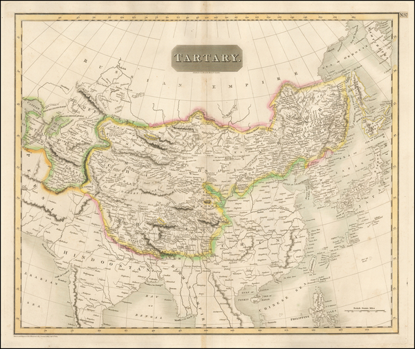 51-China, Japan, Korea, India, Other Islands and Central Asia & Caucasus Map By John Thomson