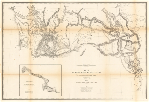 7-Rocky Mountains and Washington Map By U.S. Pacific RR Surveys