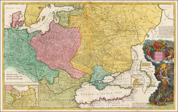 43-Germany, Poland, Russia, Ukraine, Baltic Countries, Balkans and Scandinavia Map By Herman Moll