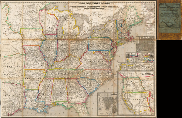 56-United States, Mid-Atlantic, Southeast, Texas and Rocky Mountains Map By Buchnerschen Buchhandl