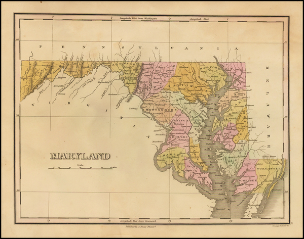 49-Maryland Map By Anthony Finley