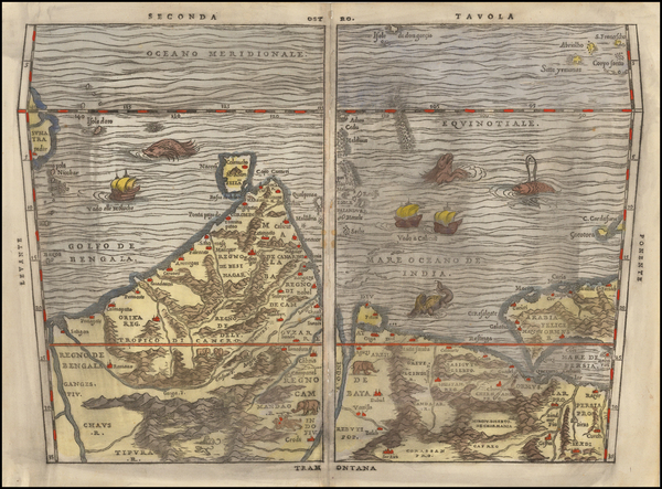 73-Indian Ocean, India, Other Islands, Central Asia & Caucasus and Middle East Map By Giovanni