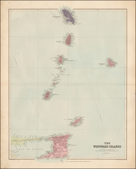 53-Caribbean and Other Islands Map By Edward Stanford