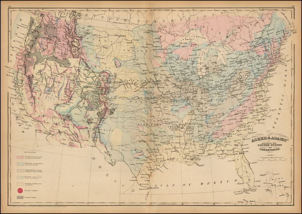 14-United States Map By Asher  &  Adams