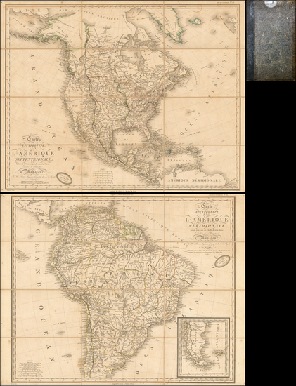 45-United States, North America, South America and America Map By Adrien-Hubert Brué