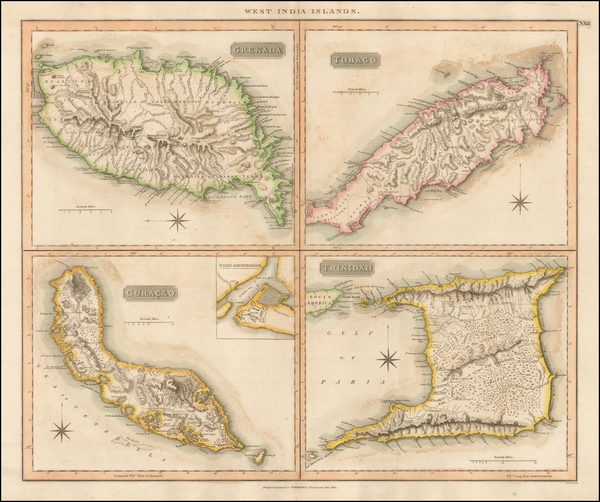 48-Caribbean and Other Islands Map By John Thomson