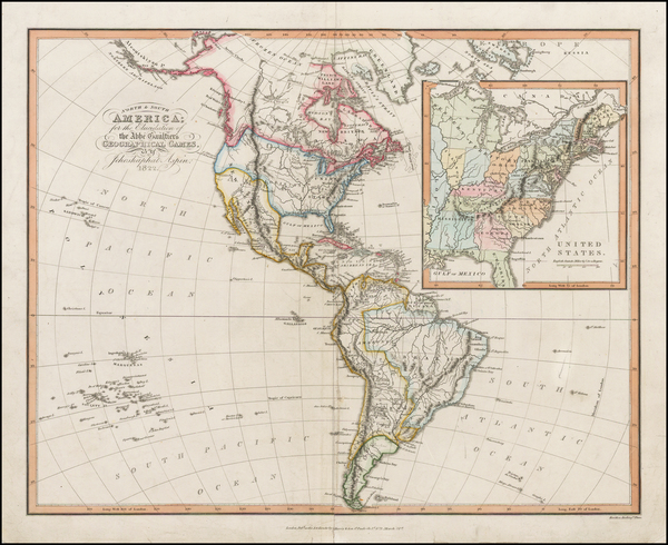 10-United States, North America, South America and America Map By Jehoshaphat Aspin