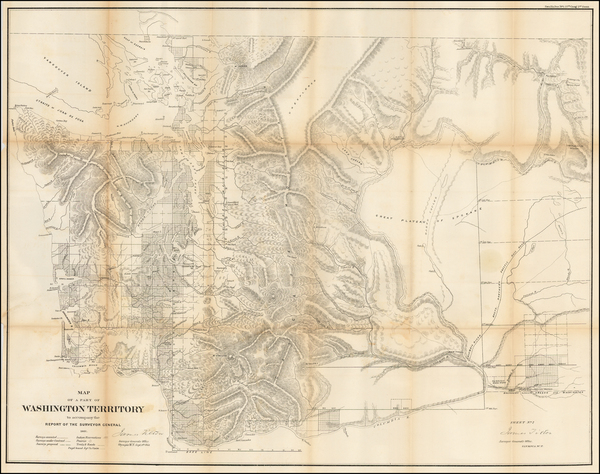 0-Washington Map By General Land Office