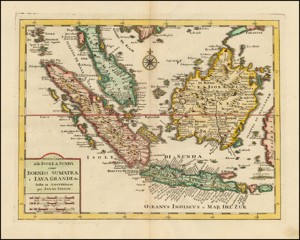 28-Southeast Asia and Indonesia Map By Isaak Tirion