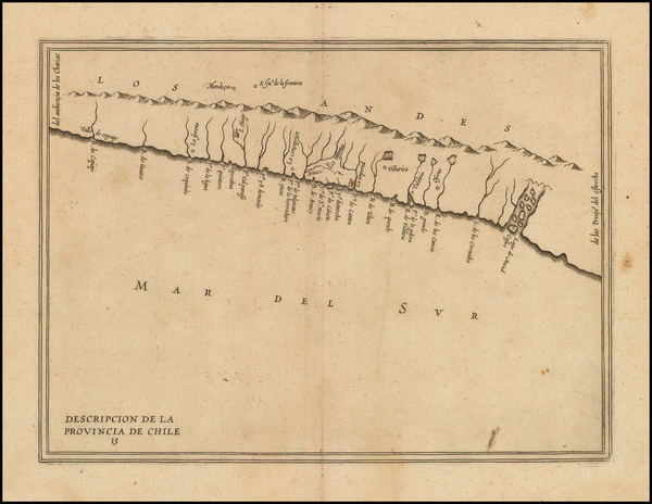 77-South America and Chile Map By Antonio de Herrera y Tordesillas