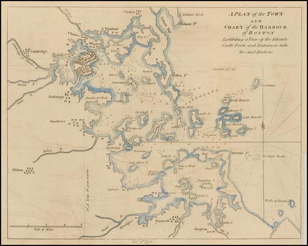 18-Massachusetts Map By Gentleman's Magazine