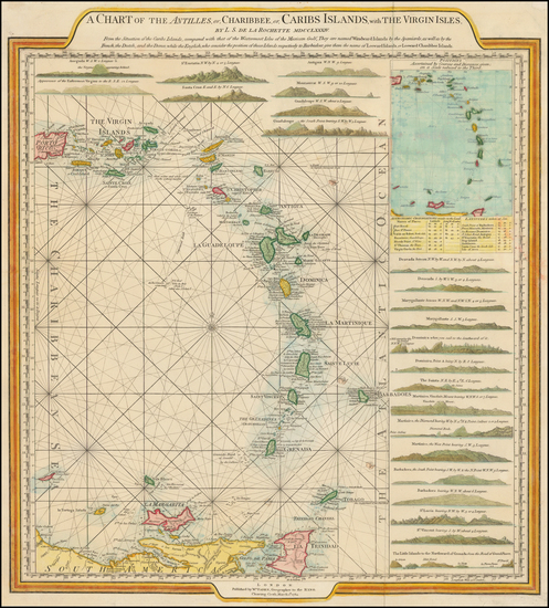 92-Caribbean and Other Islands Map By William Faden
