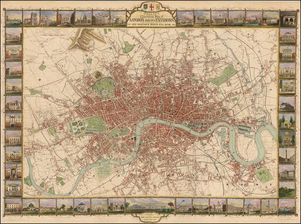 84-British Isles and London Map By John Tallis