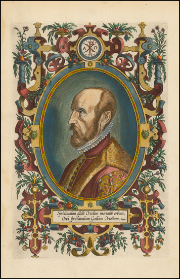 13-Portraits & People Map By Abraham Ortelius