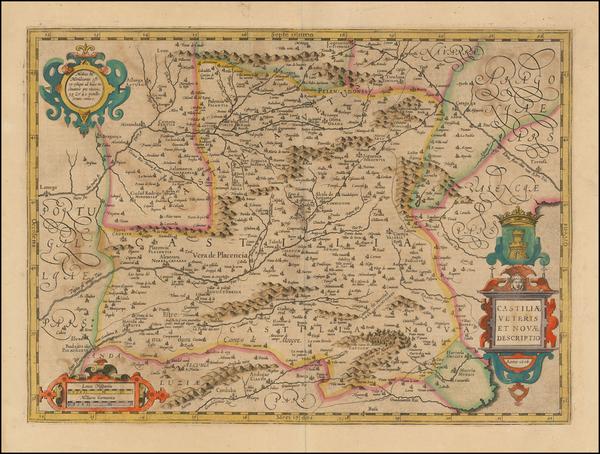 12-Spain Map By Jodocus Hondius