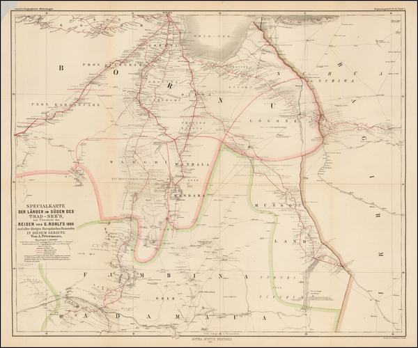 86-East Africa and West Africa Map By Augustus Herman Petermann