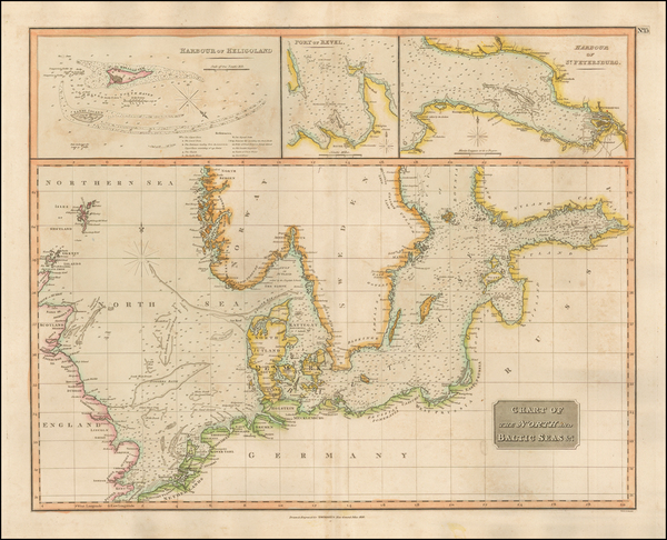 46-Germany, Baltic Countries and Scandinavia Map By John Thomson