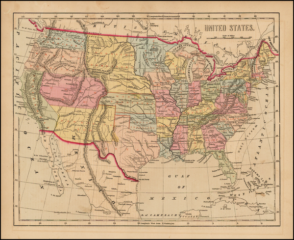 61-United States Map By Charles Morse