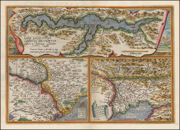 11-Italy Map By Abraham Ortelius