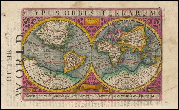 World and World Map By Jodocus Hondius