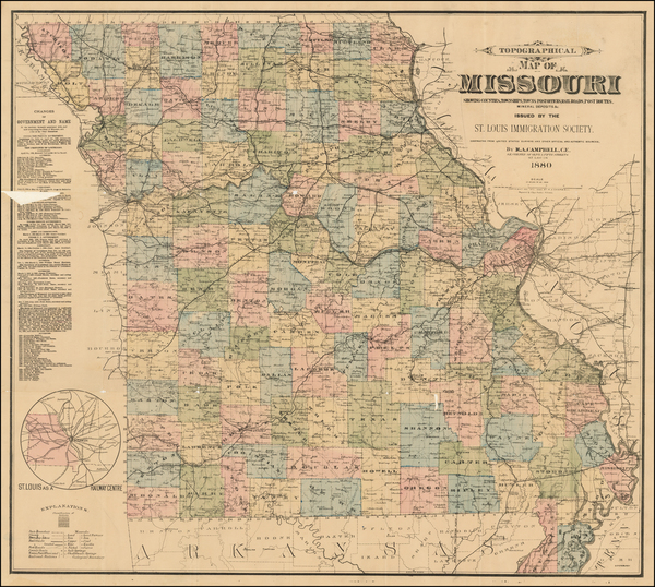 Plains and Missouri Map By Robert Allen Campbell