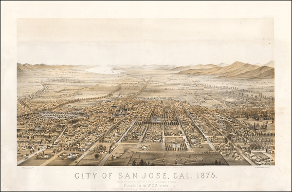 89-California and San Francisco & Bay Area Map By Charles   Braddock Gifford
