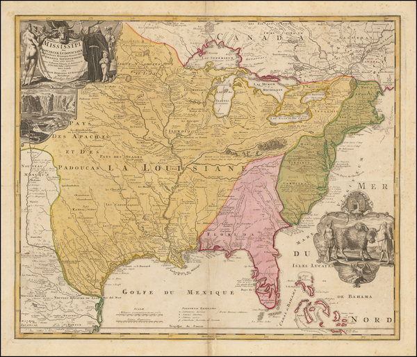 33-United States, South, Southeast, Texas, Midwest, Plains and Southwest Map By Johann Baptist Hom