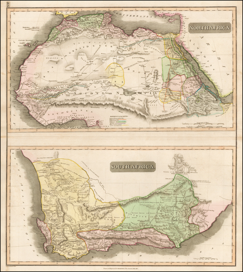 77-North Africa and South Africa Map By John Thomson