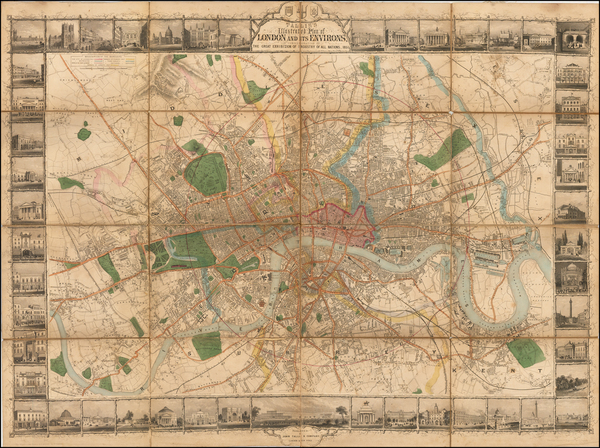 71-British Isles and London Map By John Tallis