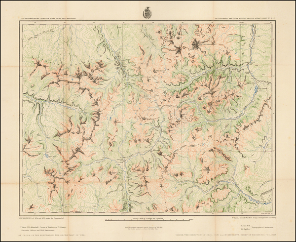 54-Colorado and Colorado Map By George M. Wheeler