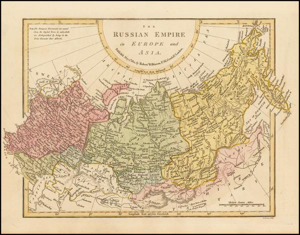 Russia, Central Asia & Caucasus and Russia in Asia Map By Robert Wilkinson