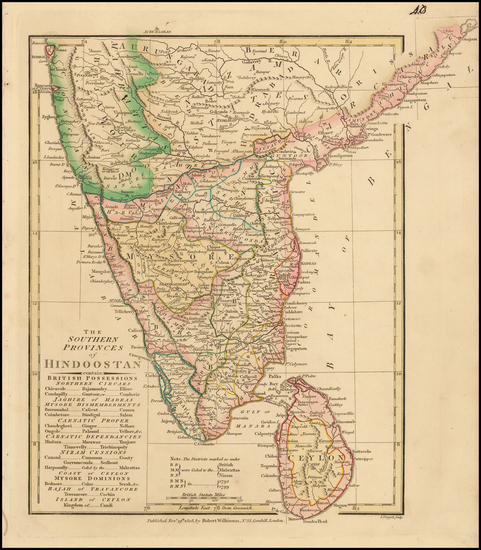 India & Sri Lanka Map By Robert Wilkinson