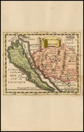 37-Southwest, Baja California, California and California as an Island Map By Pierre Du Val