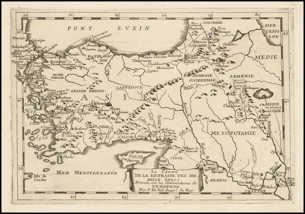 72-Turkey and Turkey & Asia Minor Map By Pierre Du Val
