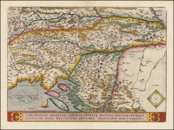 60-Balkans and Croatia & Slovenia Map By Abraham Ortelius