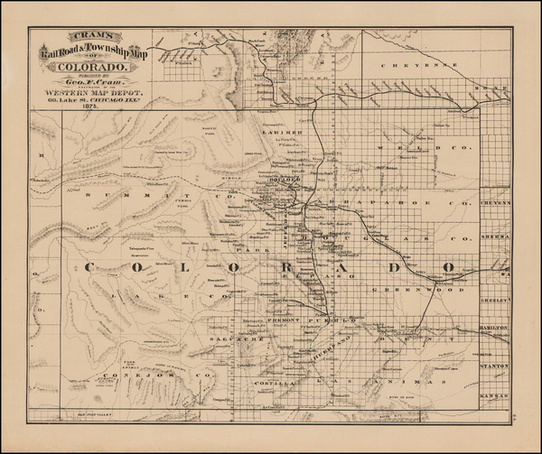 100-Colorado and Colorado Map By George F. Cram