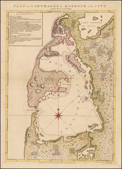 63-South America and Colombia Map By Joseph Smith Speer