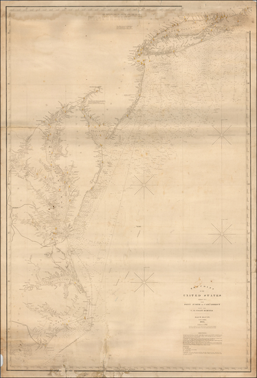 61-New York State, New Jersey, Maryland, Delaware, Virginia and North Carolina Map By E & GW B