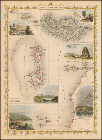 15-Bermuda and African Islands, including Madagascar Map By John Tallis