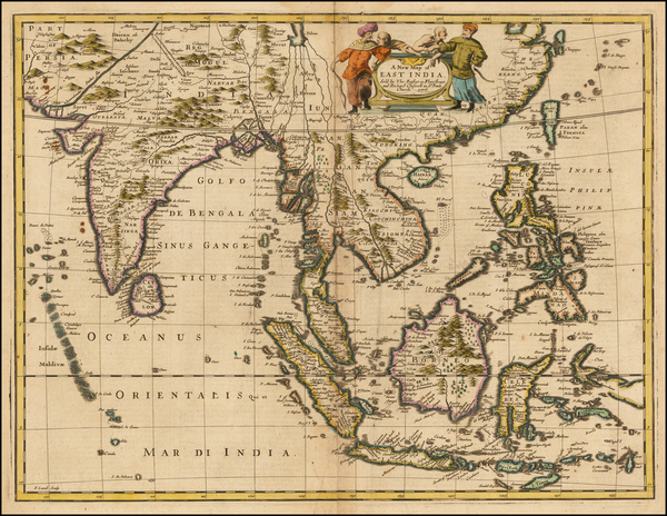 75-China, India, Southeast Asia, Philippines and Other Islands Map By John Speed