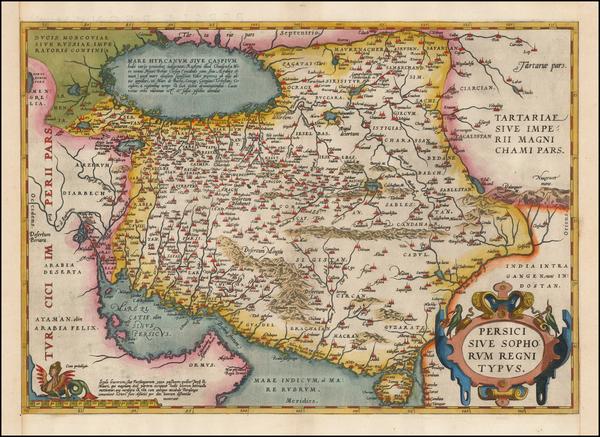 43-Persia Map By Abraham Ortelius
