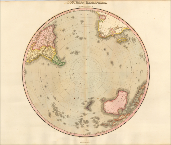 31-Southern Hemisphere and Polar Maps Map By John Pinkerton