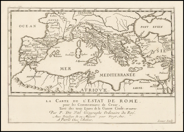 67-Italy and Mediterranean Map By Pierre Du Val