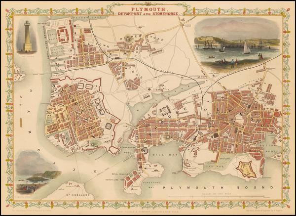 59-British Isles and British Counties Map By John Tallis