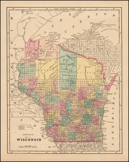 8-Midwest and Wisconsin Map By Sidney Morse