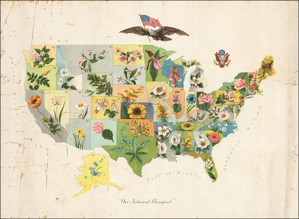 77-United States and Pictorial Maps Map By Anonymous