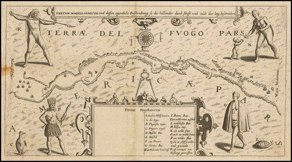 61-South America Map By Matthaeus Merian