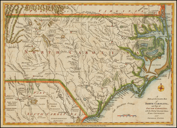71-Southeast and North Carolina Map By Political Magazine