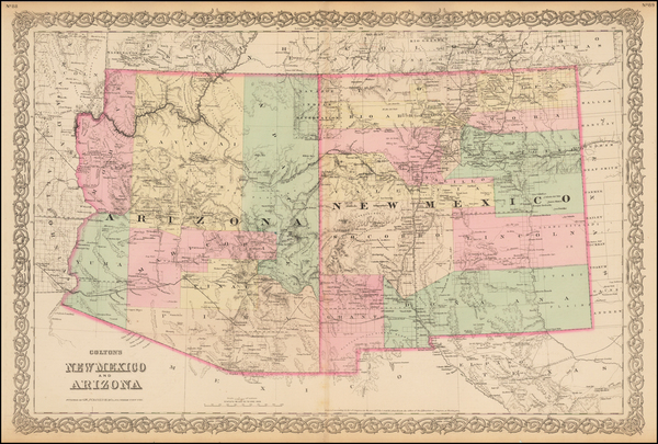 28-Southwest Map By G.W.  & C.B. Colton